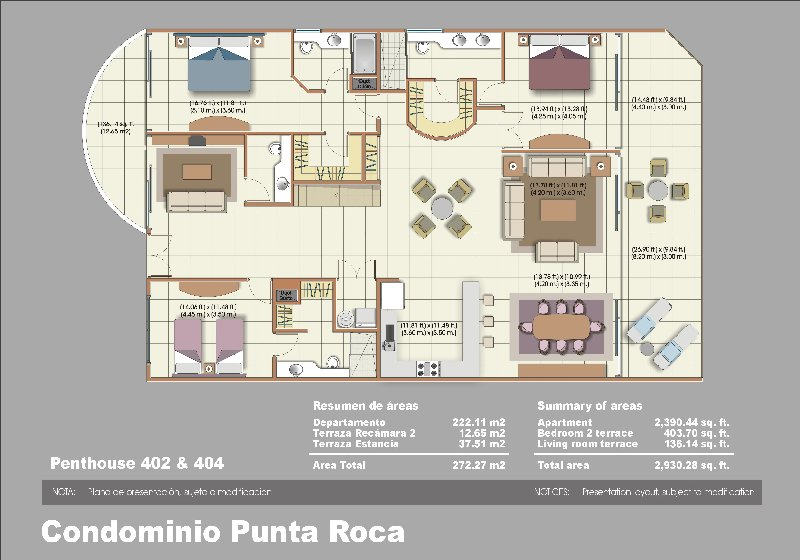 Floor Plan for Seamless Ocean Views !