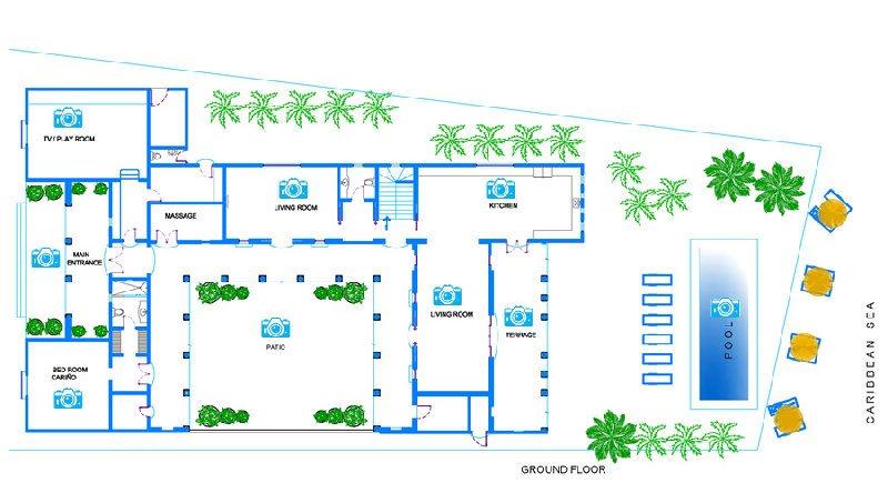 Floor Plan for Experience 5 Star service in this beachfront villa