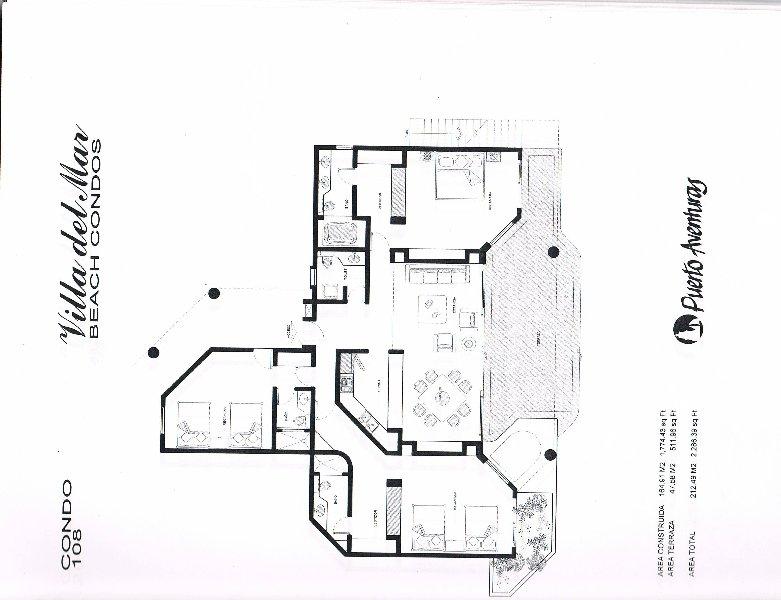 Floor Plan for Beachfront ground floor